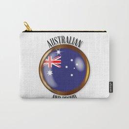 Australia Proud Flag Button Carry-All Pouch