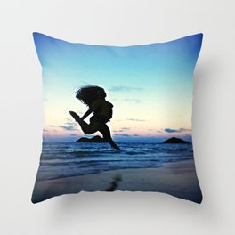 Dancing with the Wind Throw Pillow