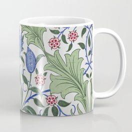 William Morris - Floral Wallpaper Design With Tulips Coffee Mug
