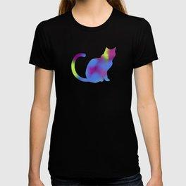 Rainbow Paint Kitty T-shirt