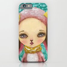 Portrait of a pink bunny iPhone 6s Slim Case