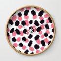 Bella - Pink and Black Brushstroke Pattern by lisaguenraymond