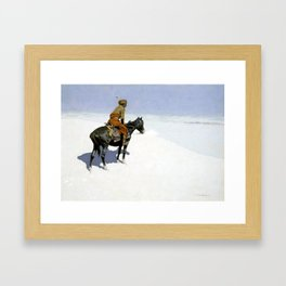 "Frederic Remington Western Art ""The Scout"" Framed Art Print"