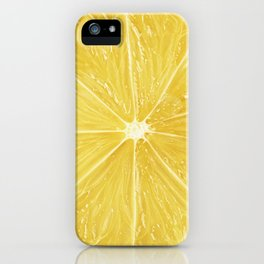 Slice of lemon iPhone Case