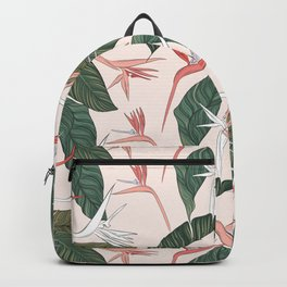Exotic plants pink Backpack