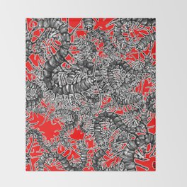Centipede party Throw Blanket