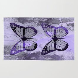 Abstract Butterfly Art Ultraviolett Colors Rug