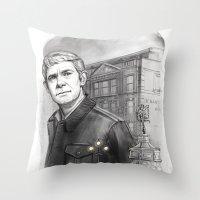 john snow Throw Pillows featuring John by RileyStark
