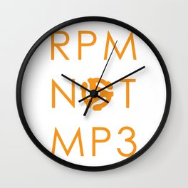 RPM NOT MP3 - Orange Wall Clock