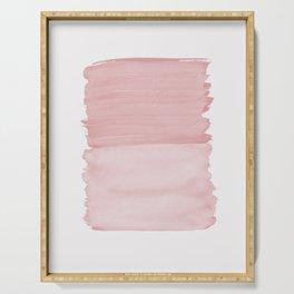 Blush Abstract Minimalism #1 #minimal #ink #decor #art #society6 Serving Tray