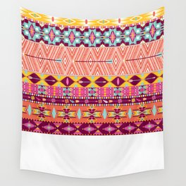 Aztec geometric seamless pattern Wall Tapestry