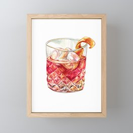 Old Fashioned Watercolor Framed Mini Art Print