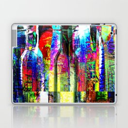 Colorful Glass Bottles Collage Laptop & iPad Skin