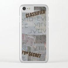 Vintage Detective Design Clear iPhone Case