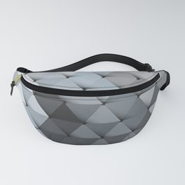 Triangles Slate Blue Gray Fanny Pack