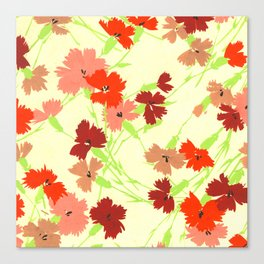 Fashion Textail Floral Print Design, Flower Bouquet Allover Pattern Canvas Print