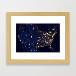 Views of the United States Framed Art Print