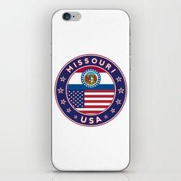 Missouri, USA States, Missouri t-shirt, Missouri sticker, circle iPhone Skin