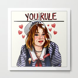 Robin You Rule Metal Print