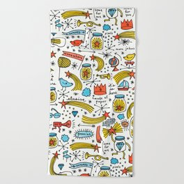 chasing stars and putting them in jars Beach Towel