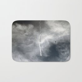 Plane Trails Bath Mat