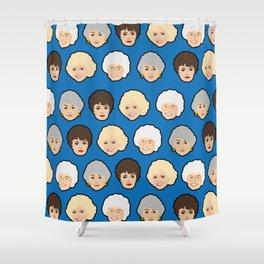 The Golden Girls Blue Pop Art Shower Curtain