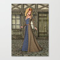 medieval Canvas Prints featuring Medieval Lady by Design Windmill