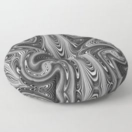 Black and White Abstract Pattern 1645 Floor Pillow