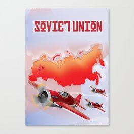 Soviet Union cartoon travel poster Canvas Print