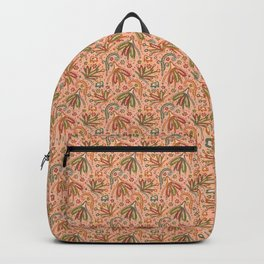Woodland Forest Plants under the Fall Sun Light , Muted Colors Pattern Illustration Backpack