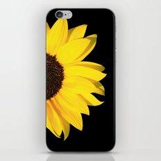 colored summer ~ sunflower black iPhone & iPod Skin