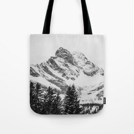 black and white like forest and snow Tote Bag