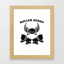 Roller Derby Wings Framed Art Print