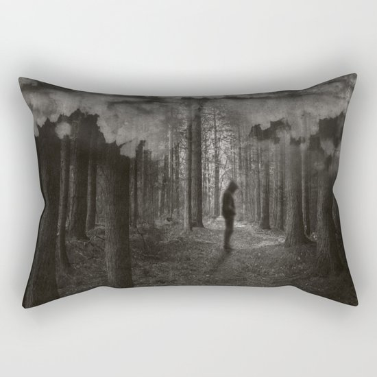 transient thoughts Rectangular Pillow