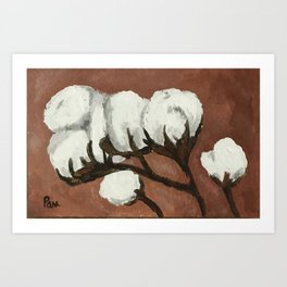 Cotton bolls Art Print