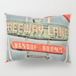 Freeway Lanes Bowl - Selma, CA Pillow Sham