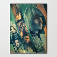arrow Canvas Prints featuring Arrow by turksworks