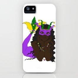 Mardi Gras Mermaid 3 iPhone Case