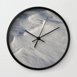 April snow drifts Wall Clock