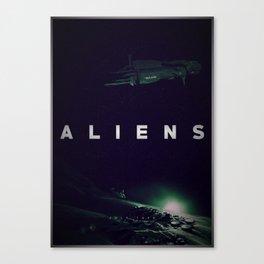 'Aliens' film poster Canvas Print