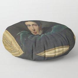 Alexandre Dubois-Drahonet - Portrait of Monsieur Gest Floor Pillow