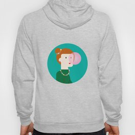 The girl and the bubble gum Hoody