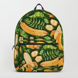 Watercolor fresh bananas - G Backpack