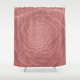 FAT PLANT PINK Shower Curtain