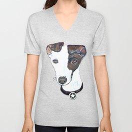 Greyhound Portrait Unisex V-Neck