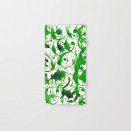 Green Drip Bubbles Hand & Bath Towel