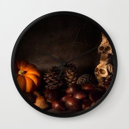 Halloween Still Life - 2 Wall Clock