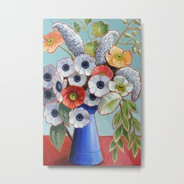 A Pitcher of Anenomes Metal Print