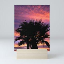 Palm Sunset - 7a Mini Art Print