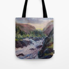 A Creek Between Mountains Tote Bag